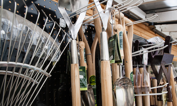 gardening tools at Rowan Garden Centre