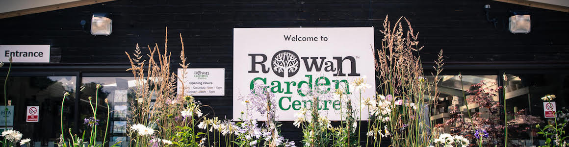 Rowan Garden Centre entrance sign to building